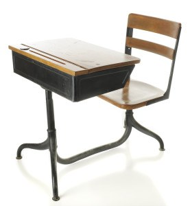School desk, which would not actually be necessary for taking online ag safety courses